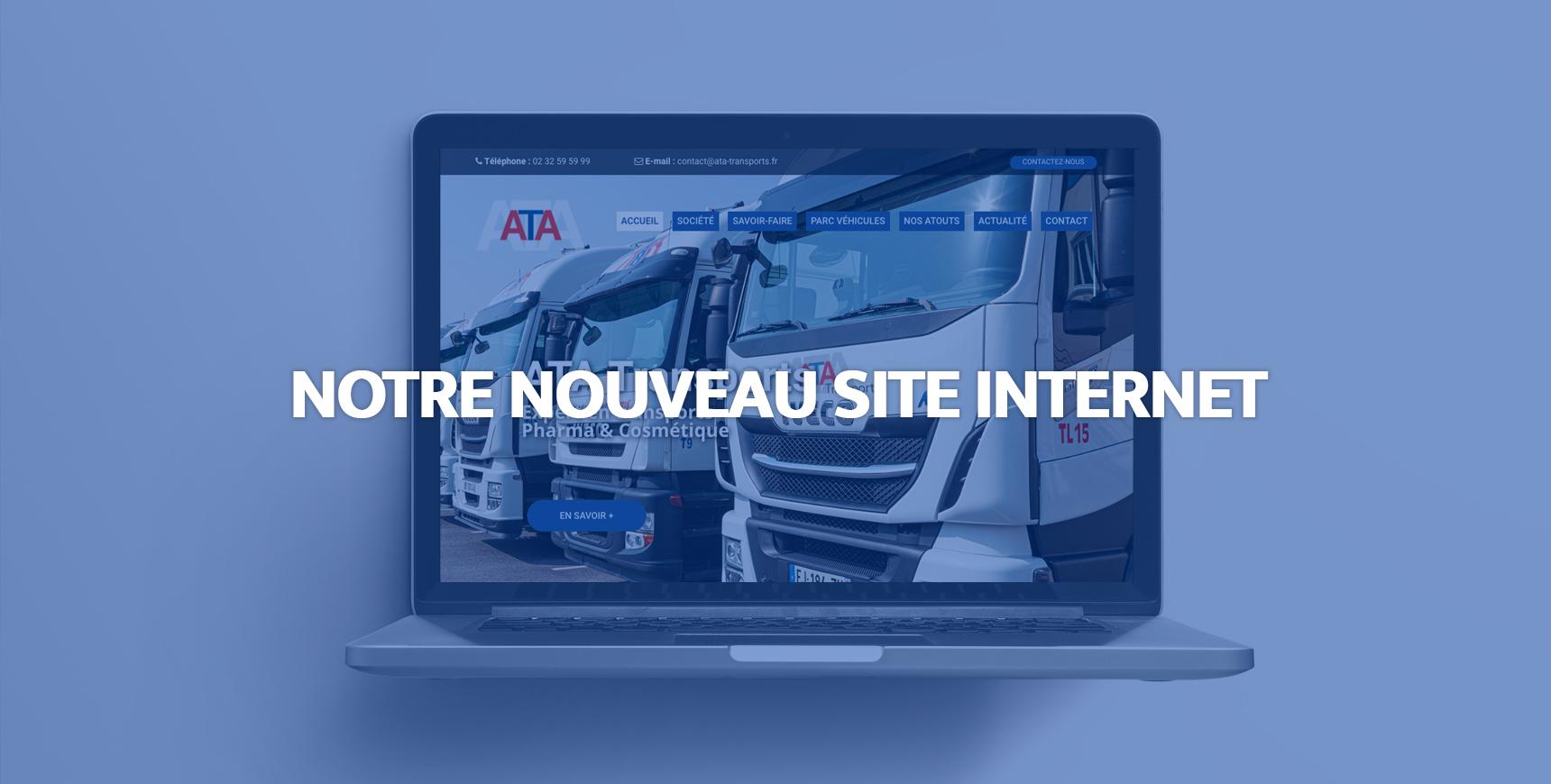 Le nouveau site internet ATA Transports